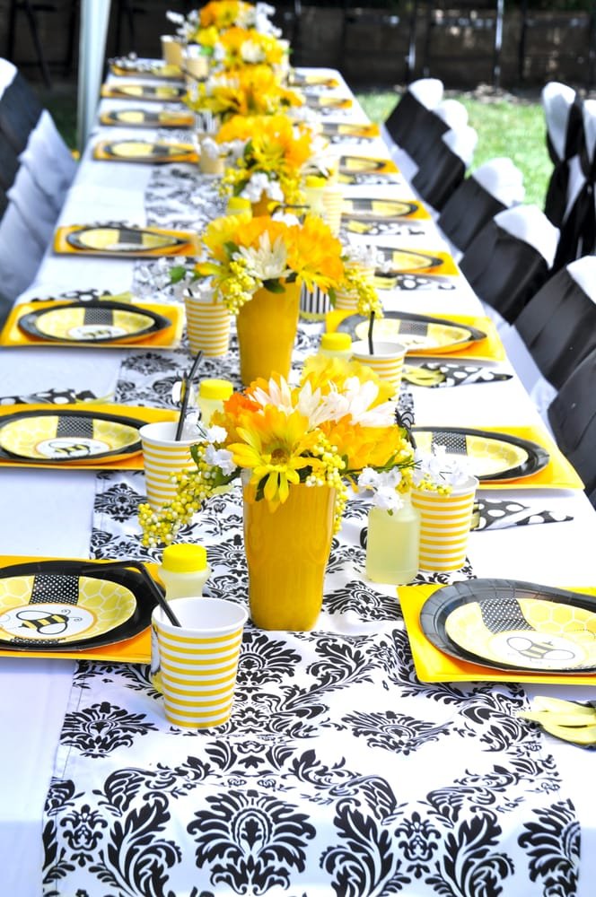 Classroom Theme Ideas Bees ~ Bumble bee baby shower table design yelp