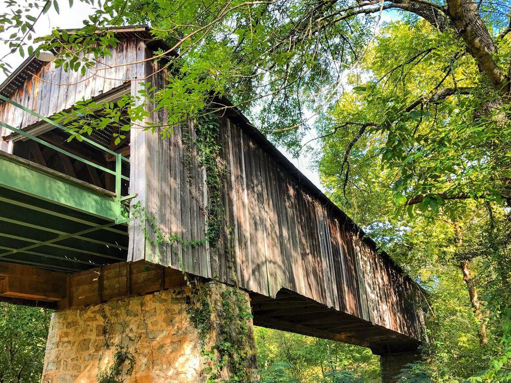 Euharlee Creek Covered Bridge: 117-123 Covered Bridge Rd SW, Bremen, GA