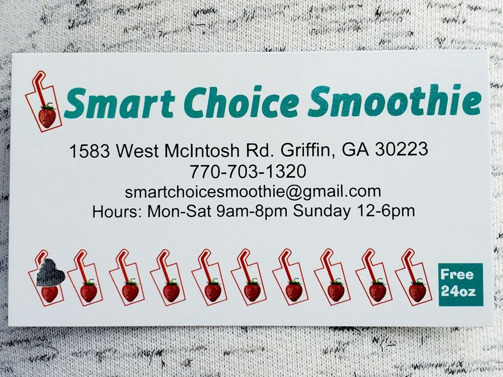 Smart Choice Smoothie: 1583 W McIntosh Rd, Griffin, GA