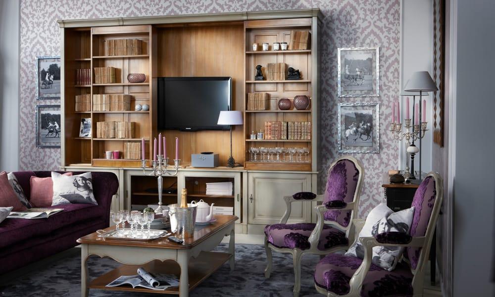Photo Of Grange Furniture New York Ny United States Sliding Bookcase