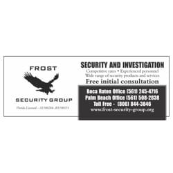 Frost security group 14 photos private investigation 7777 photo of frost security group boca raton fl united states reheart Choice Image