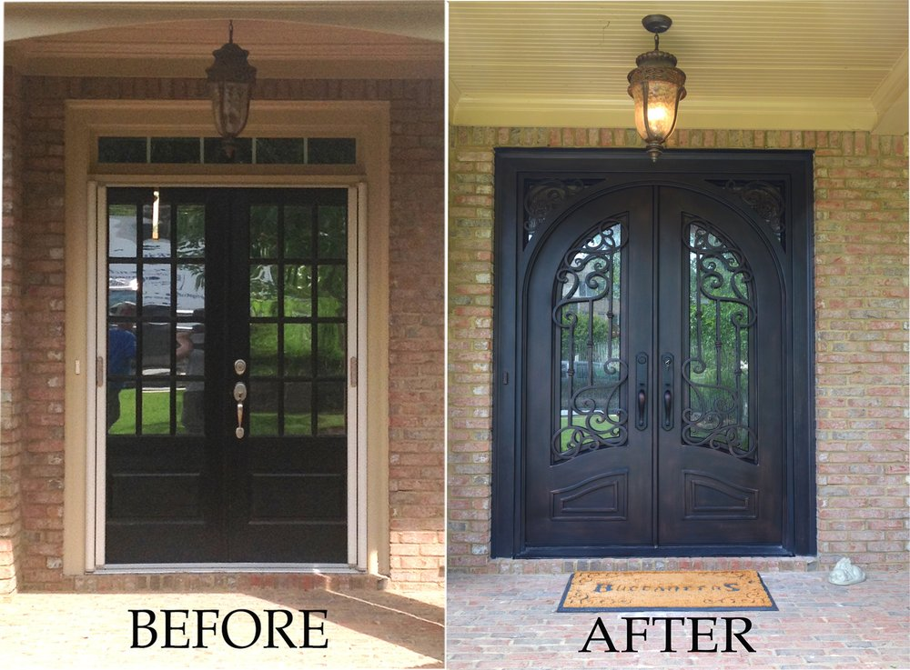 Here Is One Of Our Transformations From A Double Door With Transom