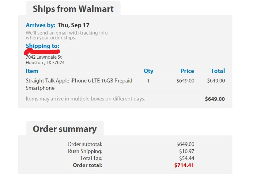 FRAUD!! Hacked my Walmart account and ordered iPhone  Read