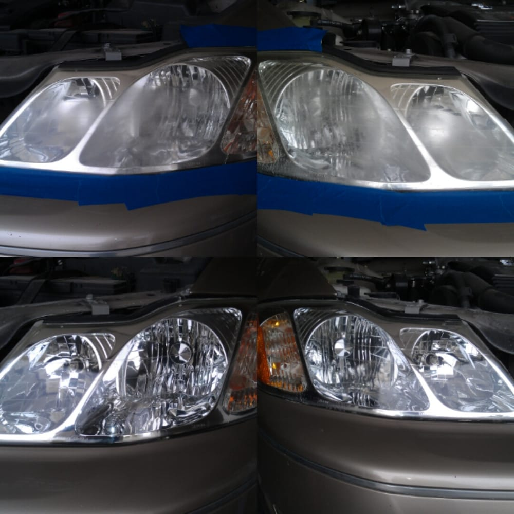 Before & after pictures of professionally done headlight restoration ...