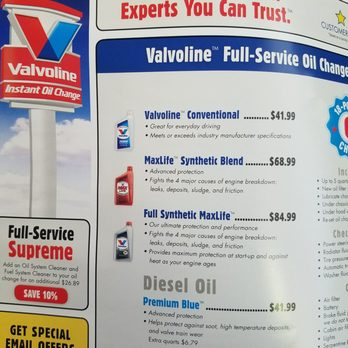 Valvoline Instant Oil Change Oil Change Stations 1845 Main Ave N