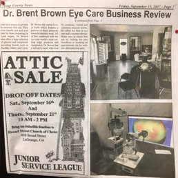 Photo of Dr. Brent Brown Eyecare - LaGrange GA United States & Dr. Brent Brown Eyecare - Optometrists - 101 S Dawson St LaGrange ...