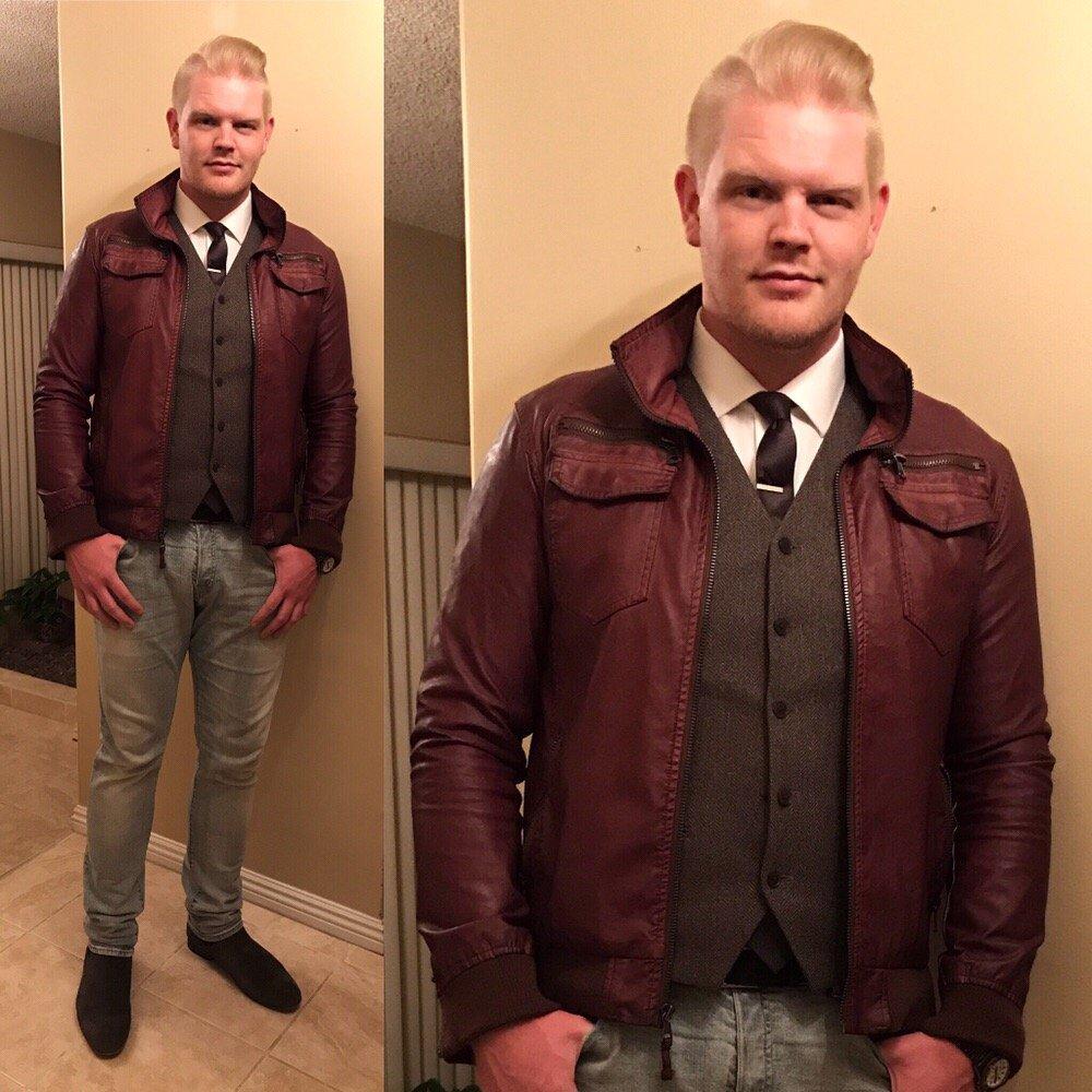 Sean Ireton Styled Himself In A Leather Jacket Vest Custom J