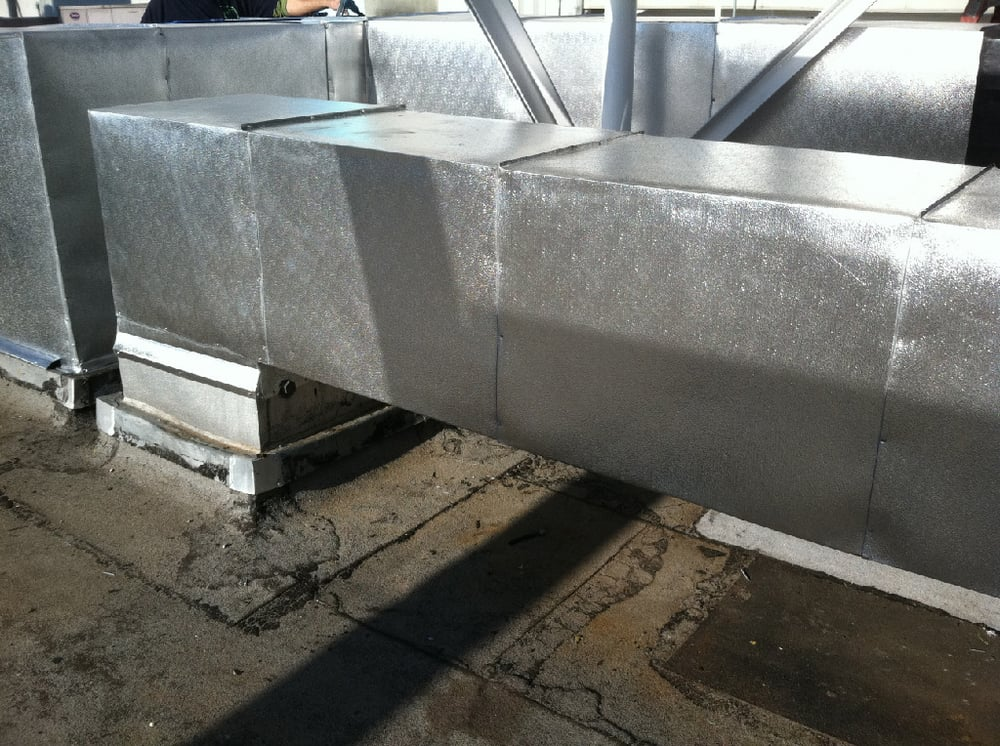 Armaflex Insulation Aluminum Jacket Installed On Supply Return Air Duct Yelp