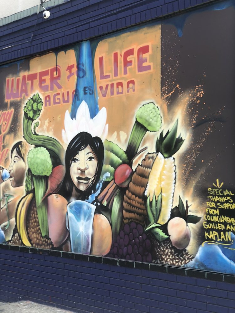 Water is Life mural: 1554 13th Ave, Oakland, CA
