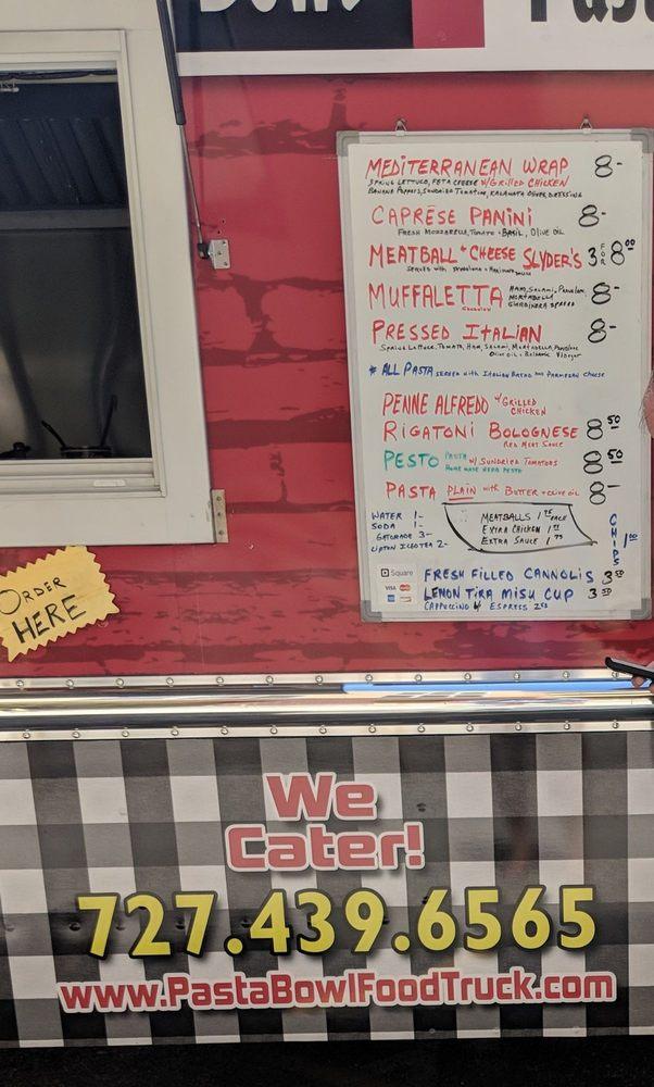 Pasta Bowl Food Truck Food Trucks Tyrone Tampa Fl Phone