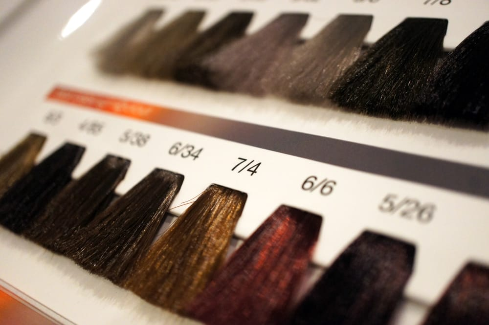 photo of ashley gonzalez san diego ca united states swatches from our - Hair Color Swatch Book