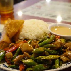 photo of happy garden restaurant chico ca united states huge asparagus chicken - Happy Garden Chico