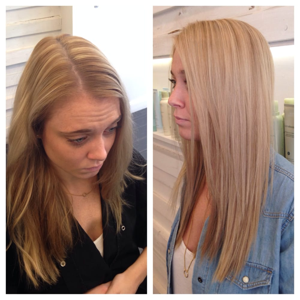 Beforeafter Blonde Hair Color Correction Done By Master Colorist Richard  Yelp