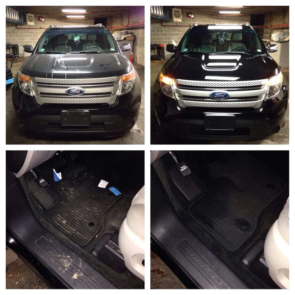 Explorer, Before And After We Did A Full Detail Inside And