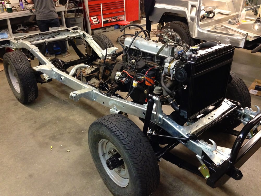 1980 FJ40 start of a full restoration with a Galvanized Frame  - Yelp