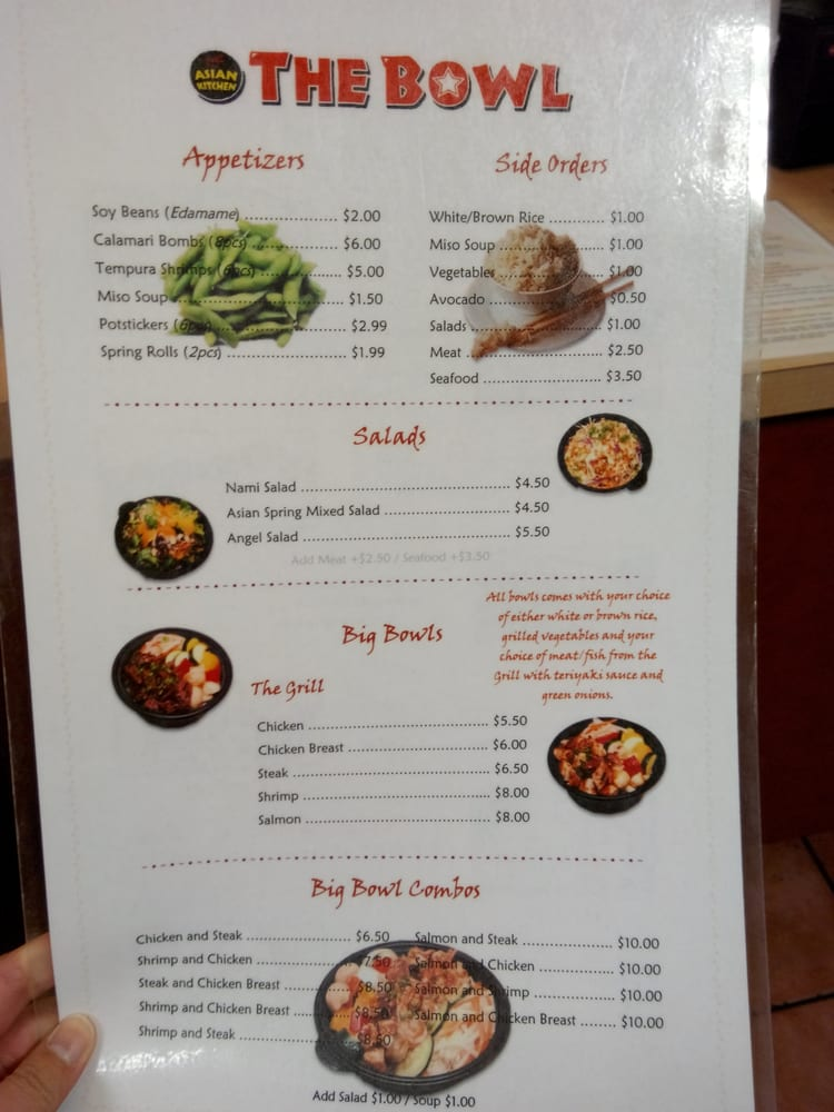 Menu and prices without the rolls. - Yelp