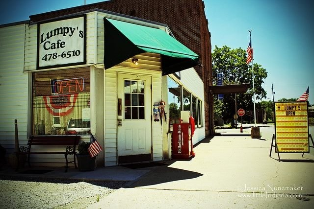 Lumpy's Cafe: 20 S Foote St, Cambridge City, IN