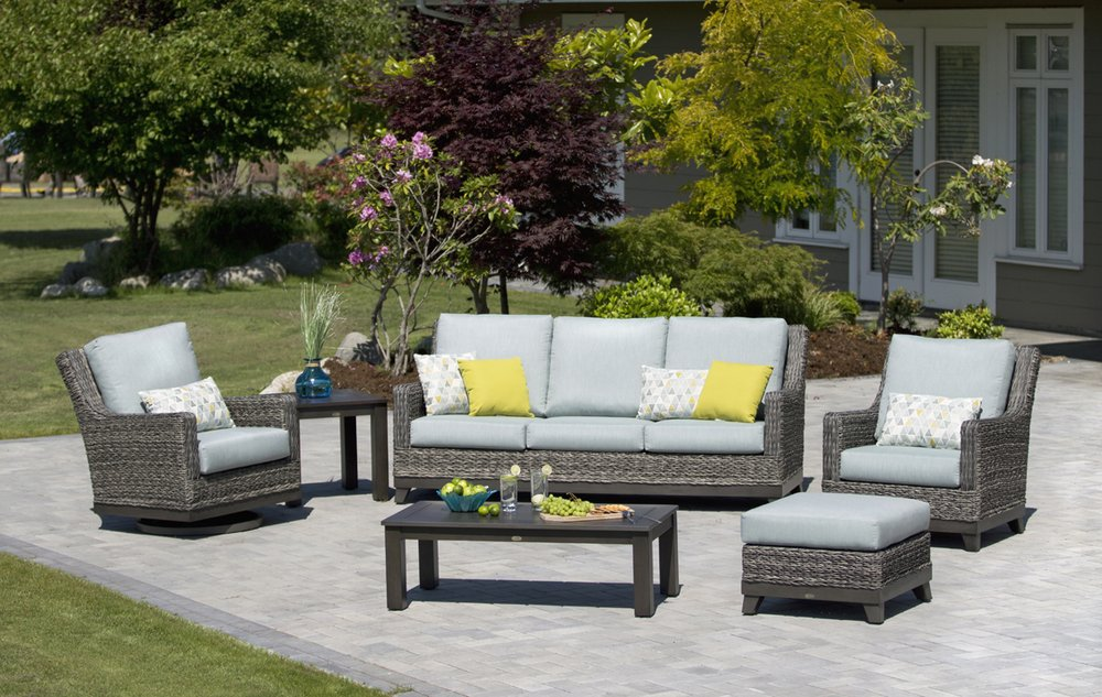 Wicker land patio 31 photos furniture shops 2573 hwy for Outdoor furniture kelowna