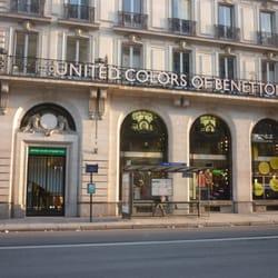 benetton chiuso abbigliamento femminile 16 rue auber saint lazare grands magasins parigi. Black Bedroom Furniture Sets. Home Design Ideas