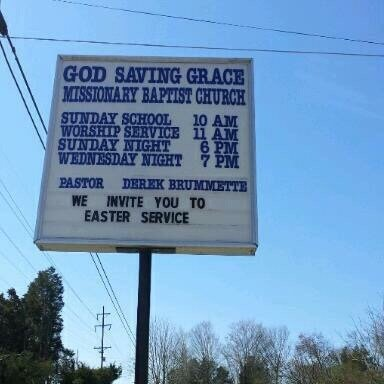 God Saving Grace Missionary Baptist Church: 8645 E Emory Rd, Corryton, TN