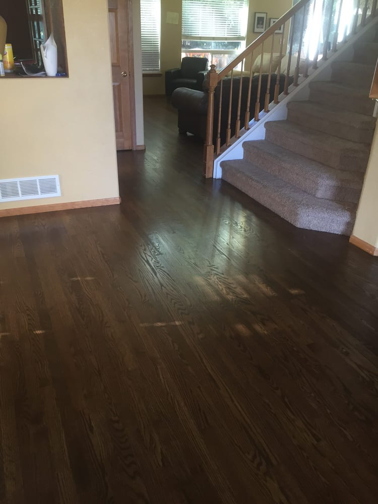 Red Oak 1 Grade Bona Antique Brown Stain Bona Waterbased