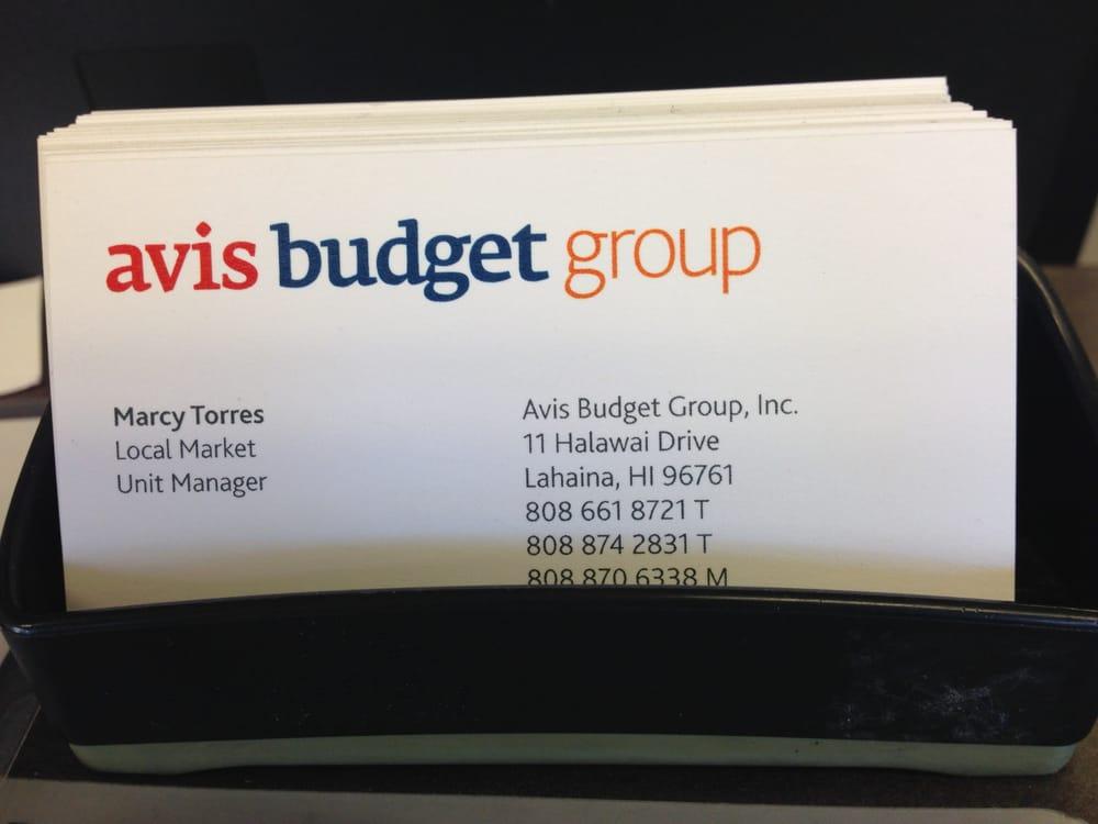 Avis & Budget Car Rental Business Card - Yelp