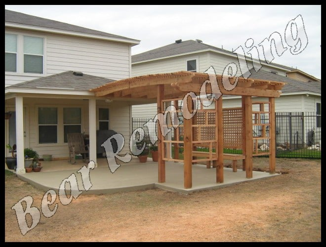 Pergola Built To Extend Covered Patio Yelp