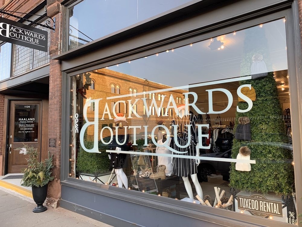 Backwards Boutique: 1124 2nd St, Perry, IA