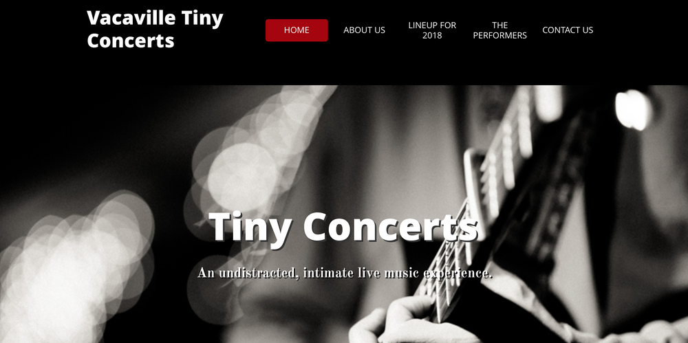 Vacaville Tiny Concerts: 411 William St, Vacaville, CA