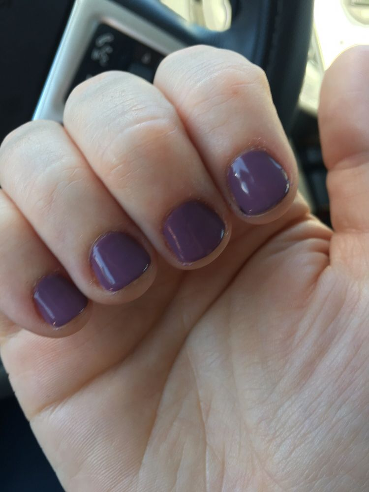 After 2 weeks of not biting my nails - Gelish worked on getting them ...