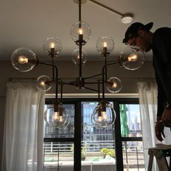 Nyc queens electrician 21 reviews electricians 22 27 27th st photo of nyc queens electrician astoria ny united states chandelier installations in aloadofball Gallery
