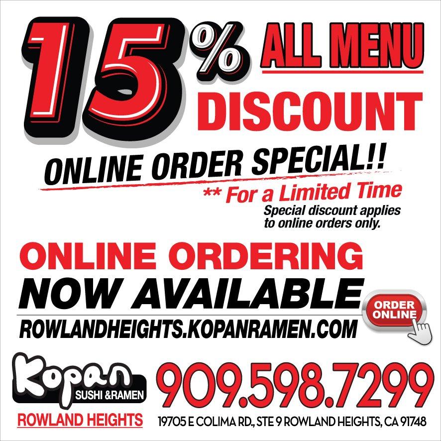 Kopan Sushi & Ramen - Rowland Heights