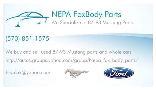 Fox Body Parts >> Nepa Foxbody Parts Auto Parts Supplies 236 N 8th St