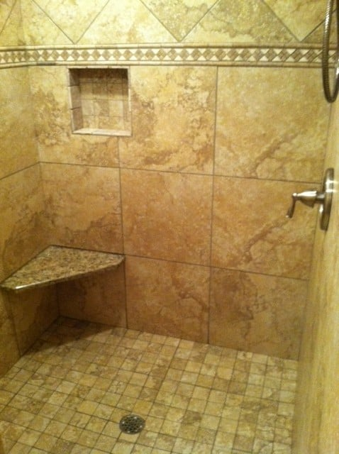 Beautiful Custom Walk In Shower With No Doors Installed In Hudson Ohio Ce