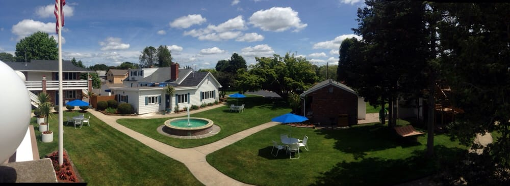 photo of breezeway resort   westerly ri united states  view from the upper view from the upper pool deck  american flag hammock waterfall      rh   yelp