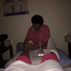 aunt Foot massage
