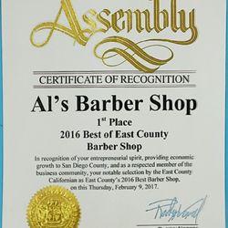 Al s santee barber shop 23 recensioni barbieri 8781 for Santee business license
