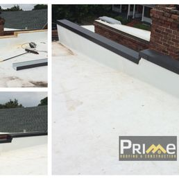 Photo Of Prime Roofing   Richmond, VA, United States. Installing Some Metal  Coping