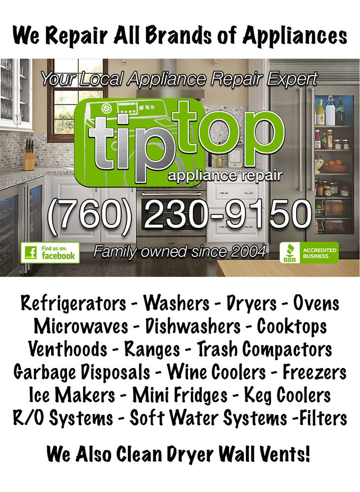 Tip Top Appliance Repair Appliances Amp Repair Carlsbad
