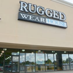 Rugged wearhouse clothing store