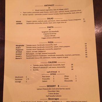 Cafe Italia Menu El Paso Tx