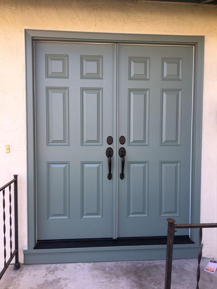 New Front Doors Sherwin Williams Satin Sheen Yelp