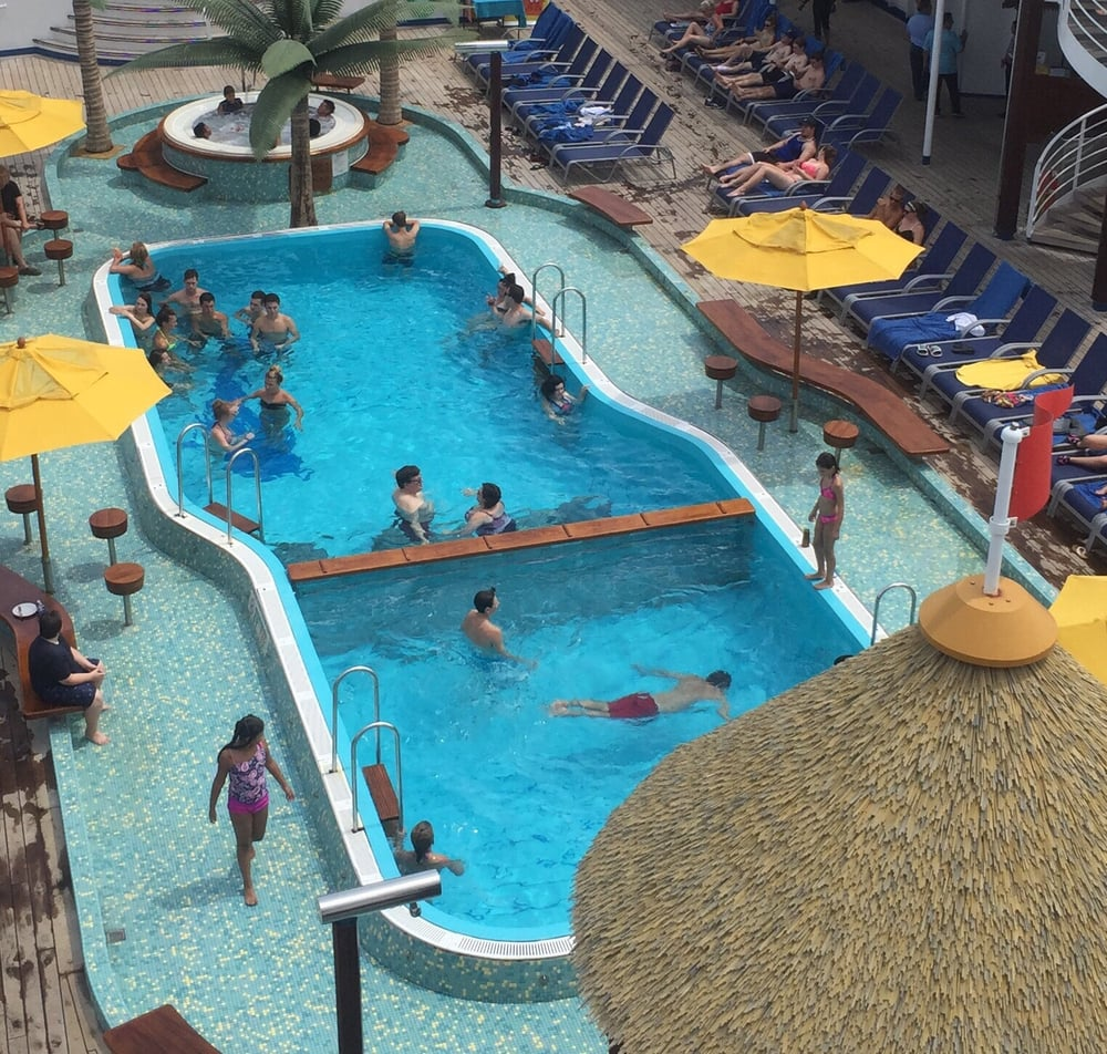This is pool it 39 s very small photo is deceiving this is - Least crowded swimming pool singapore ...