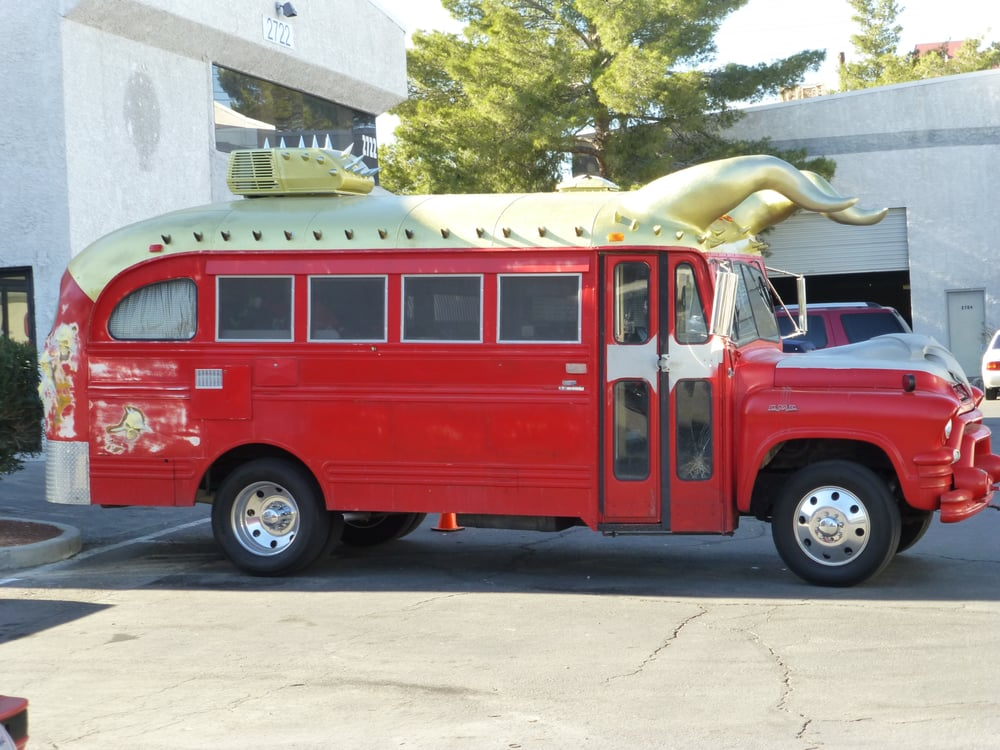 Horny Mike\'s bus before restoration - Yelp