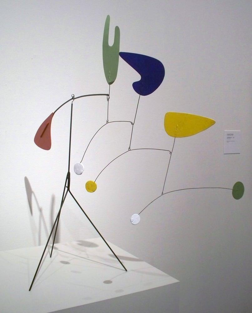 Alexander Calder; Standing Mobile; circa 1940; steel wire, painted ...