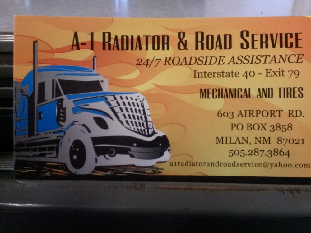 A-1 Radiator and Road Service: 603 Airport Rd, Milan, NM