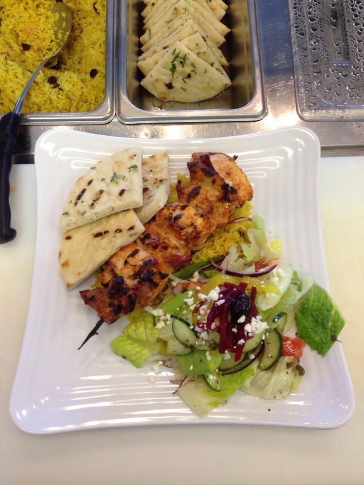 Saffron Chicken Brochettes Recipe — Dishmaps