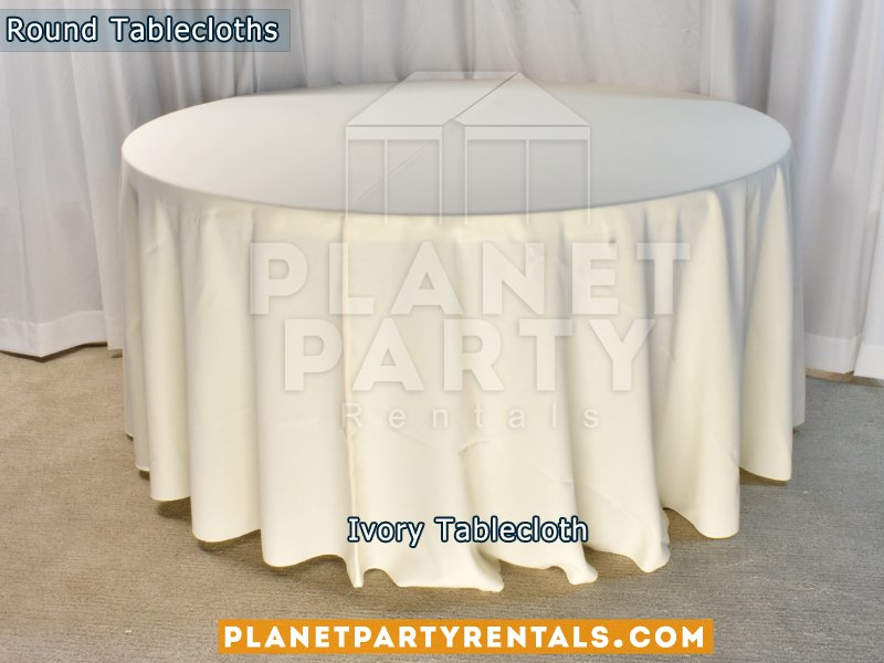 Photo Of Planet Party Rentals   Van Nuys, CA, United States. Ivory Round