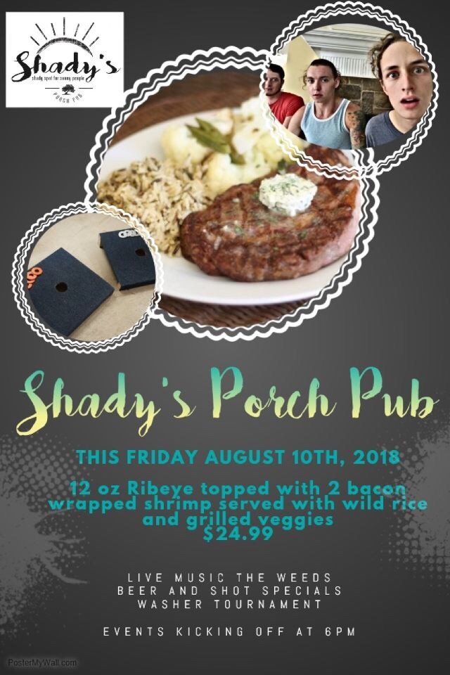 Shady's Porch Pub & Grill: 840 E Mulberry St, Angleton, TX
