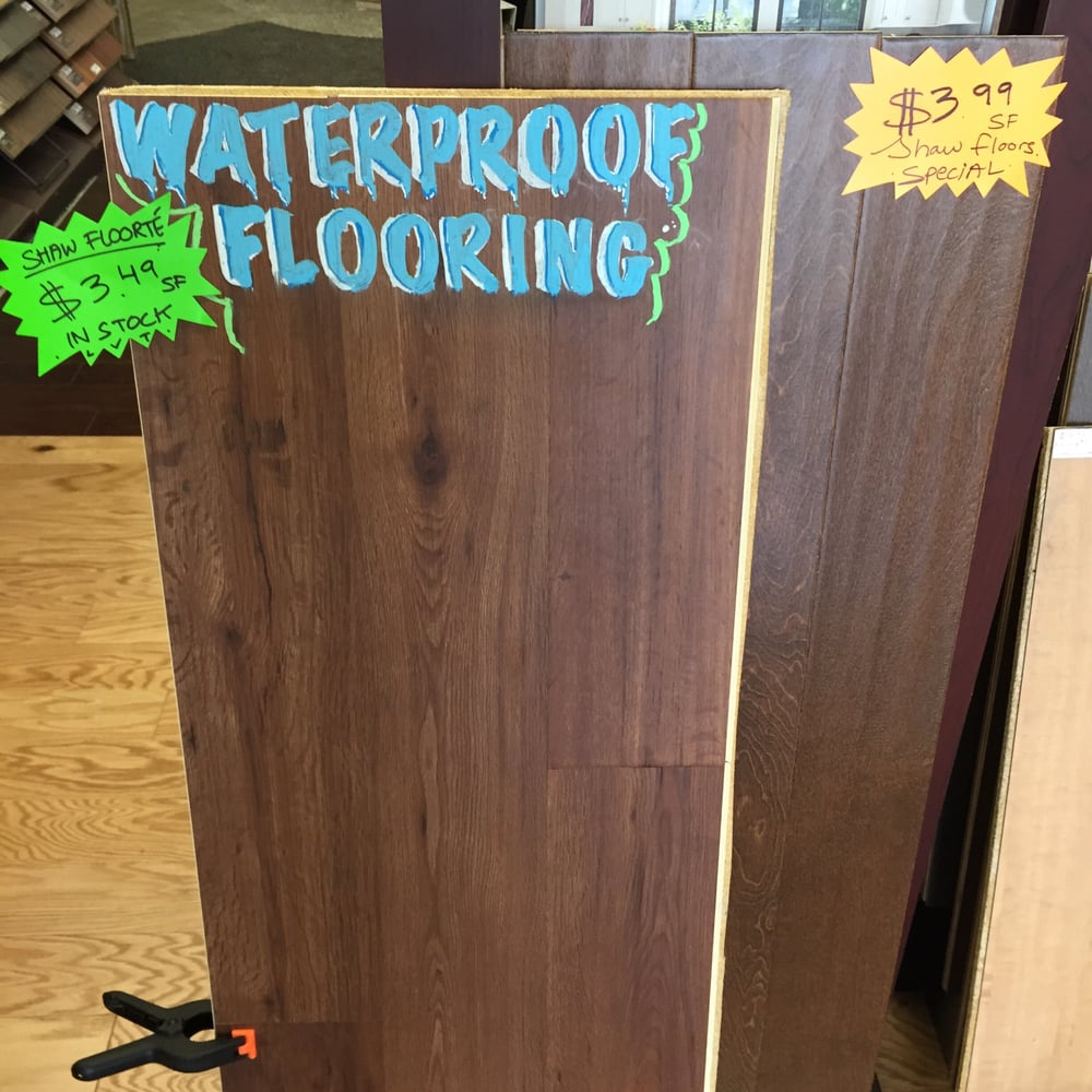 Waterproof flooring sold here at a Pacific Coast Carpet ...